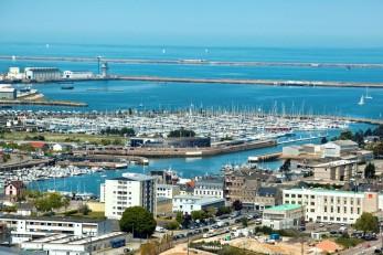 La rade de Cherbourg-en-Cotentin, plus grande rade artificielle du monde