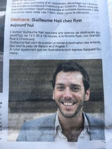 Article Presse de La Manche Novembre 2016